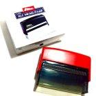 他の写真1: インク内蔵キリトリスタンプ7cm(レッド)