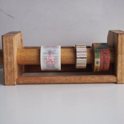 画像2: 346木製マスキングテープカッター&スタンド ブラウン