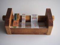 346木製マスキングテープカッター&スタンド ブラウン