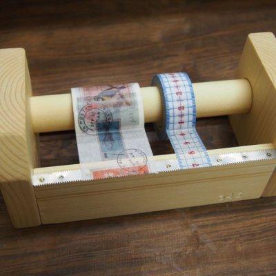 画像2: 346木製マスキングテープカッター&スタンド ナチュラル
